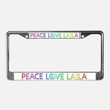 Peace Love Laila License Plate Frame