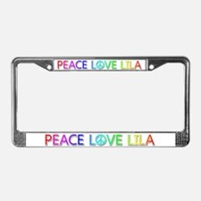 Peace Love Lila License Plate Frame