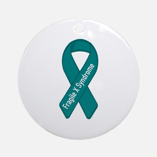 Fragile X Syndrome Ornament (Round)
