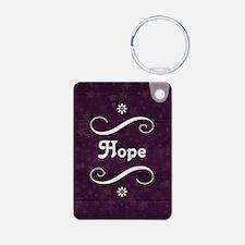 HOPE Aluminum Photo Keychain