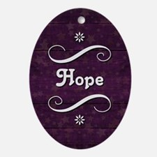 HOPE Oval Ornament