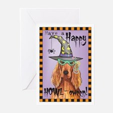 Halloween Irish Setter Greeting Cards (Pk of 10)
