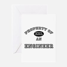 Property of an Engineer Greeting Cards (Pk of 10)