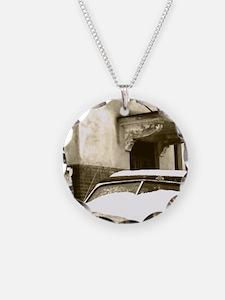 Sepia Snow Necklace