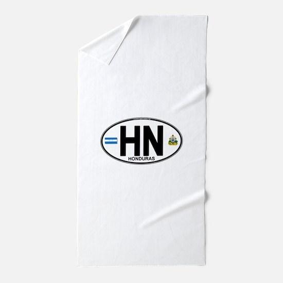 honduras-oval.png Beach Towel