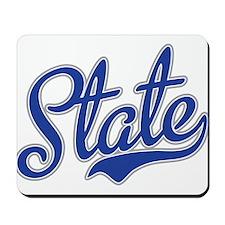 State Script Font Mousepad
