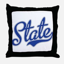 State Script Font Throw Pillow