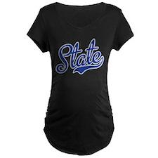 State Script Font Maternity T-Shirt
