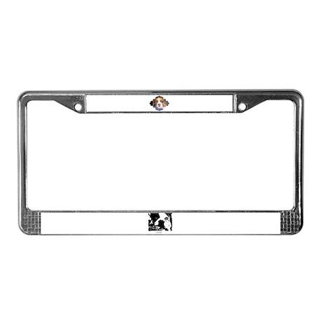 CUTE DOG License Plate Frame
