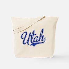 Utah State Script Font Vintage Tote Bag