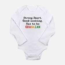 be ghanaian Long Sleeve Infant Bodysuit
