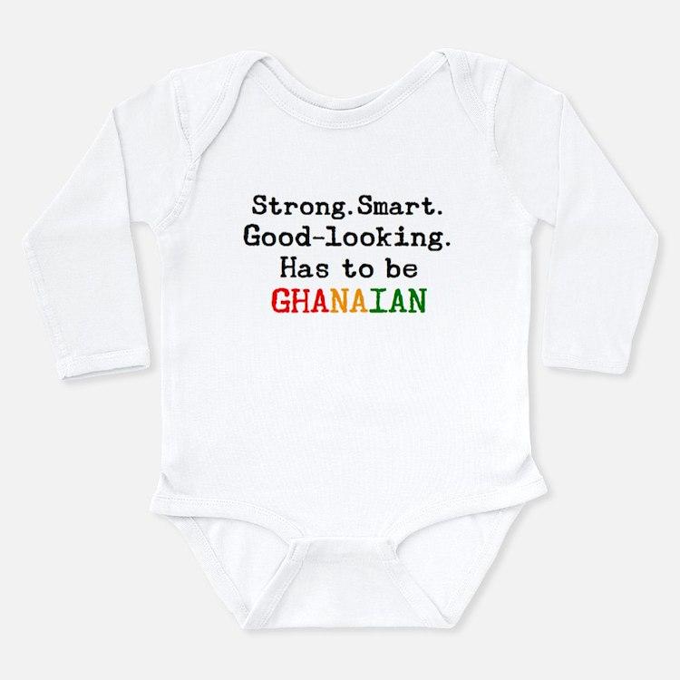 be ghanaian Long Sleeve Infant Bodysuit