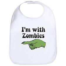 I'm With Zombies Halloween Bib