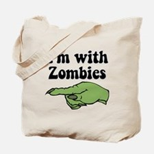 I'm With Zombies Halloween Tote Bag
