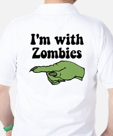 I'm With Zombies Halloween T-Shirt