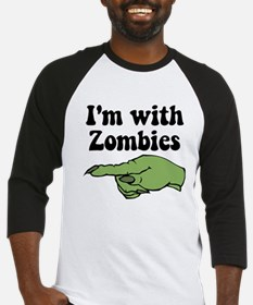 I'm With Zombies Halloween Baseball Jersey