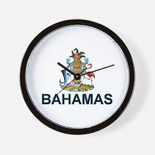 bahamas-arms-labeled.png Wall Clock