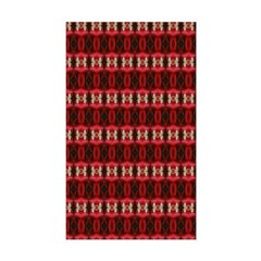 Red Pattern 997 Rectangle Decal