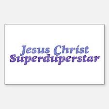 """""""Superduperstar"""" Rectangle Decal"""
