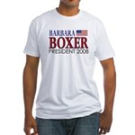 Boxer for President Fitted T-Shirt
