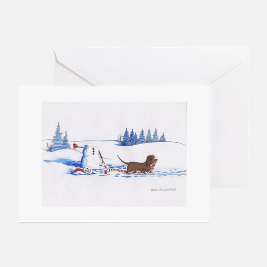 IWS and Snowman #7 Greeting Cards