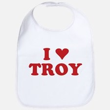 I LOVE TROY Bib