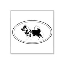 "Cute Swedish vallhund Square Sticker 3"" x 3"""