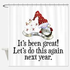 New Years Shower Curtain