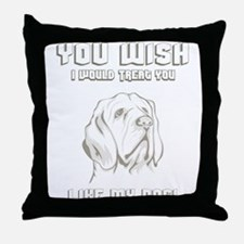 Clumber Spaniel Throw Pillow