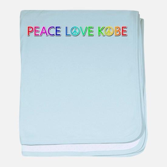 Peace Love Kobe baby blanket