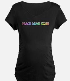 Peace Love Kobe Maternity T-Shirt