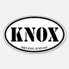 Fort Knox, Kentucky Sticker (Oval)