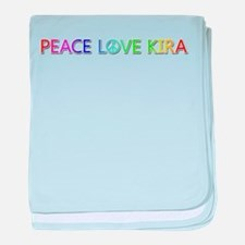 Peace Love Kira baby blanket