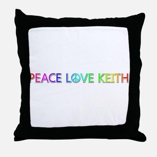 Peace Love Keith Throw Pillow