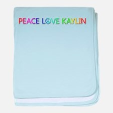 Peace Love Kaylin baby blanket