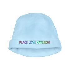 Peace Love Kayleigh baby hat