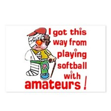Softball Amateurs - Postcards (Package of 8)