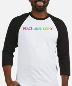 Peace Love Kathy Baseball Jersey