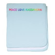 Peace Love Kassandra baby blanket
