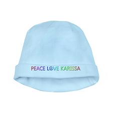 Peace Love Karissa baby hat