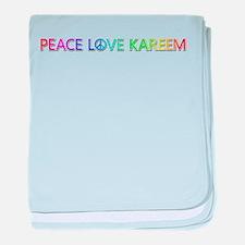 Peace Love Kareem baby blanket
