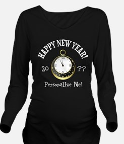 New Years Long Sleeve Maternity T-Shirt