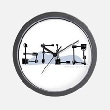 BFLO - BUFFALO, NY - shovels Wall Clock