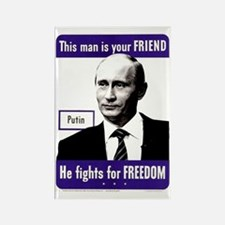 Funny Russian president Rectangle Magnet