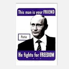 Cool Russian president Postcards (Package of 8)
