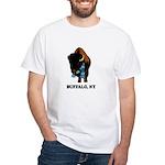 BUFFALO, NY - buffalo with sk White T-Shirt