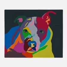 Psychedelic Pit Bull Molly Throw Blanket
