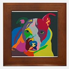 Psychedelic Pit Bull Molly Framed Tile