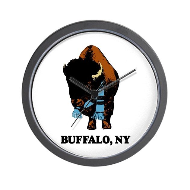 Buffalo With Sk Wall Clock By Ffreelance