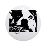 SWEET DOG Ornament (Round)